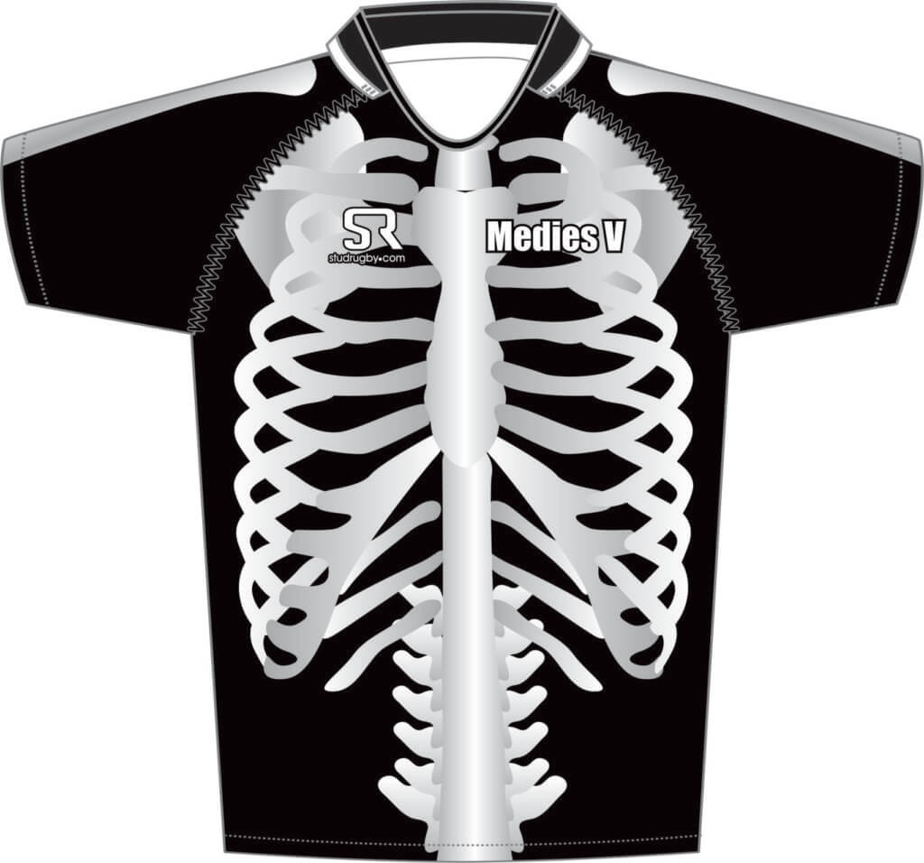 5bcd75dee3b Skeleton Rugby Shirt - Stud Rugby Custom Rugby Shirts and Sport Kit